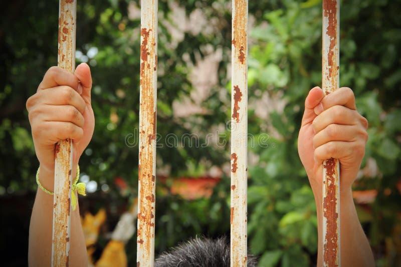 Mano di vecchia prigione immagini stock libere da diritti