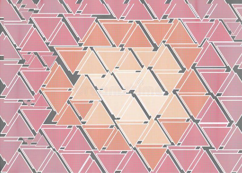 Mano dibujada, color abstracto creado de formas geométricas como fondo libre illustration