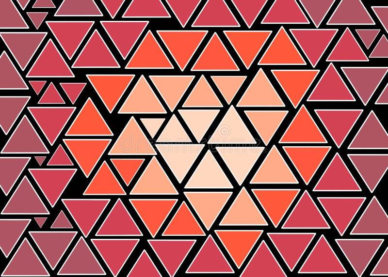 Mano dibujada, color abstracto creado de formas geométricas como fondo ilustración del vector