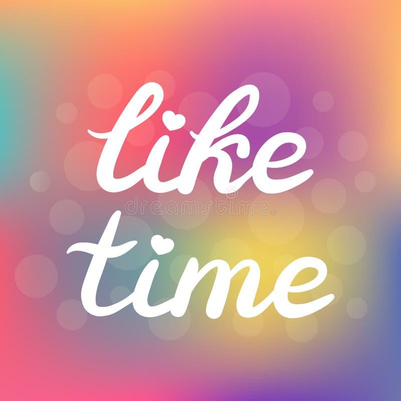Mano dibujada como el cartel de las letras de la tipografía del tiempo ilustración del vector
