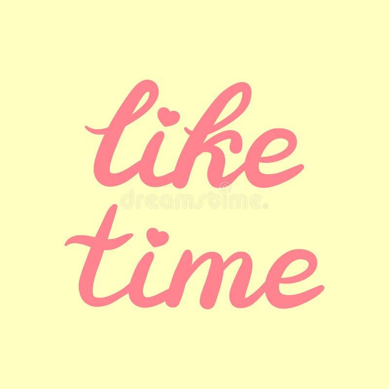 Mano dibujada como el cartel de las letras de la tipografía del tiempo stock de ilustración