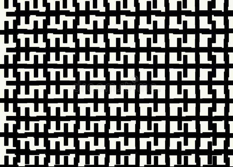Mano dibujada, fondo monocrom?tico abstracto creado con las l?neas de la cremallera libre illustration