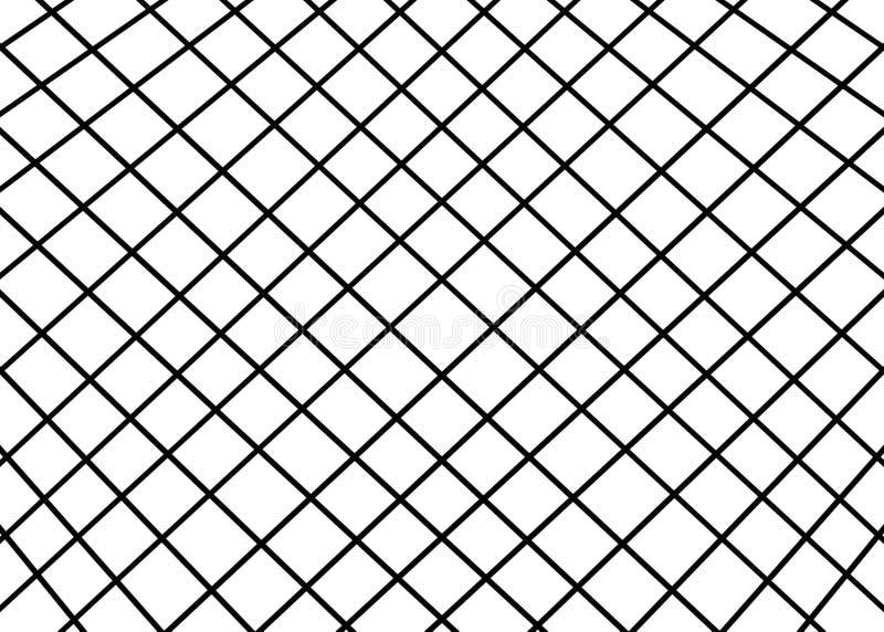 Mano dibujada, monocromo abstracto creado de fondo geométrico de las formas ilustración del vector
