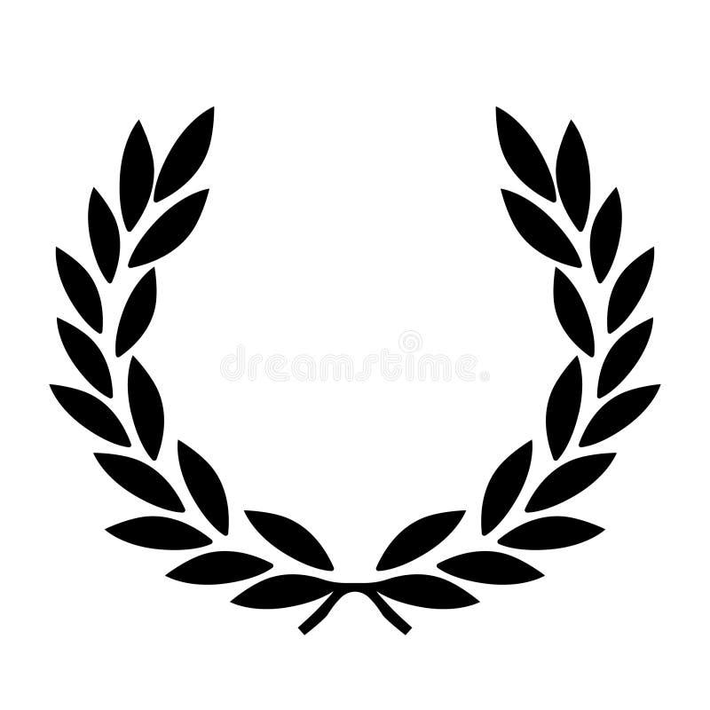 Mano dibujada, vector, EPS, logotipo, icono, crafteroks, ejemplo del vector EPS de la guirnalda del laurel de la silueta para div ilustración del vector