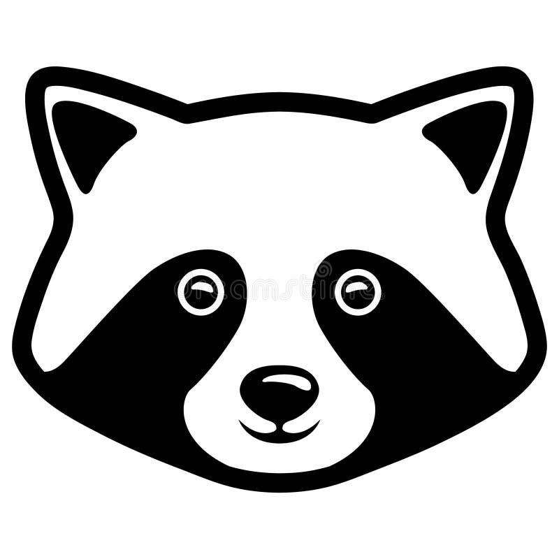 Mano dibujada, vector, EPS, logotipo, icono, crafteroks, ejemplo del vector EPS del mapache de la silueta para diversas aplicacio ilustración del vector