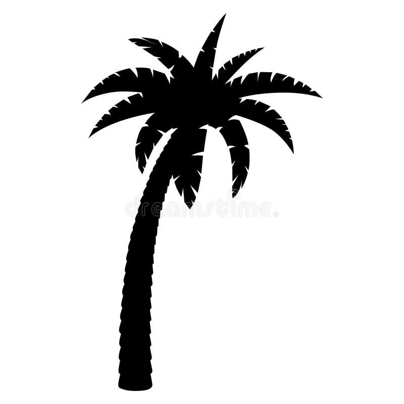 Mano dibujada, vector, EPS, logotipo, icono, ejemplo de la palmera de la silueta por los crafteroks para diversas aplicaciones libre illustration