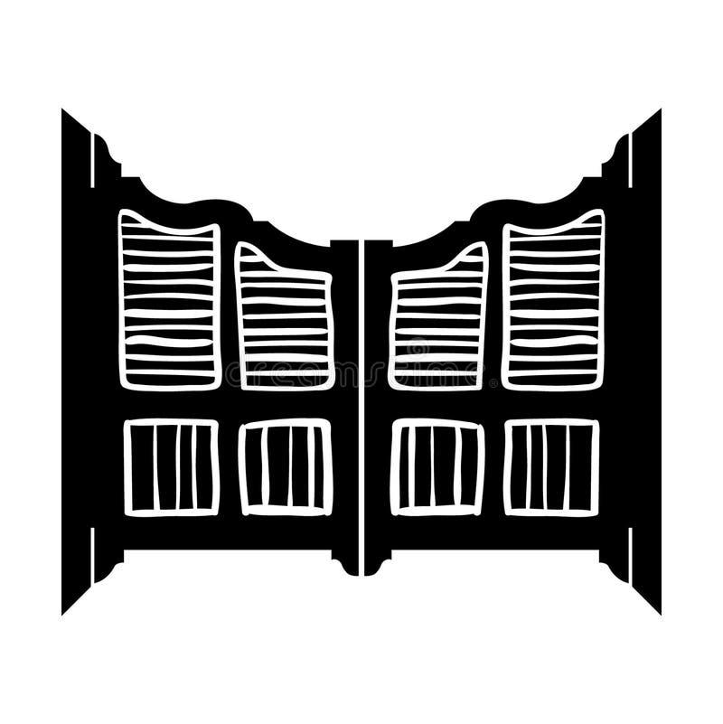 Mano dibujada, vector, EPS, logotipo, icono, ejemplo del vector EPS de la puerta del salón de la silueta por los crafteroks para  ilustración del vector