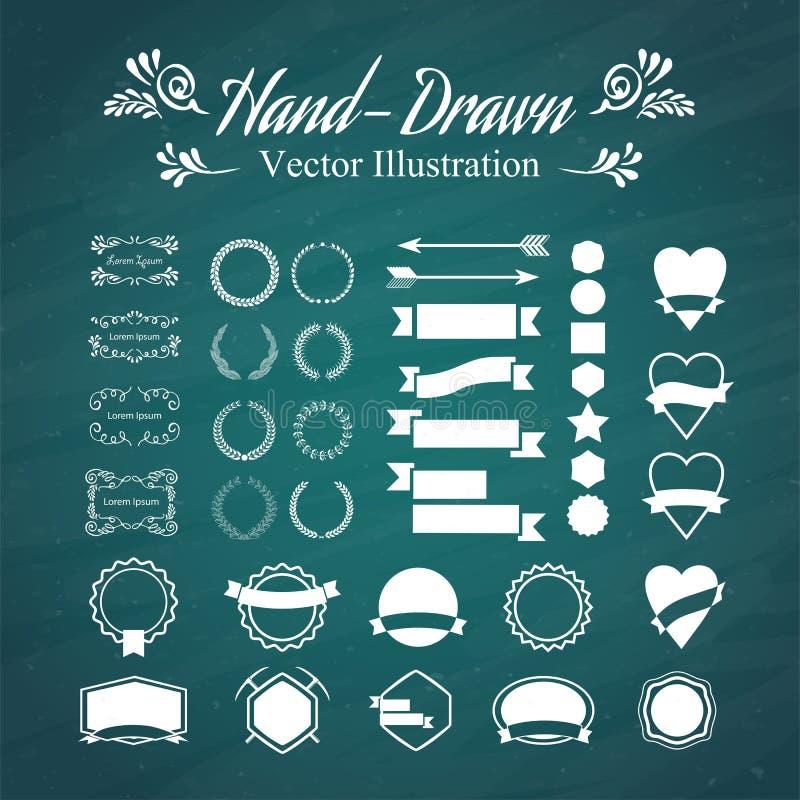 mano-drenaje ilustración del vector