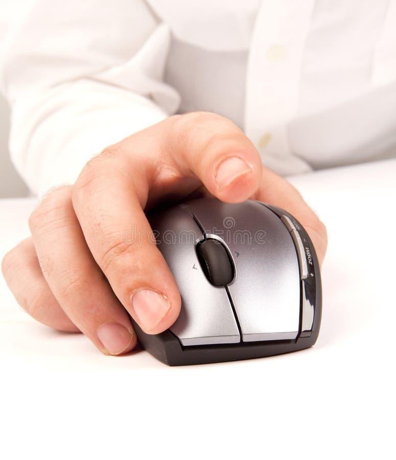 Mano e mouse immagini stock libere da diritti