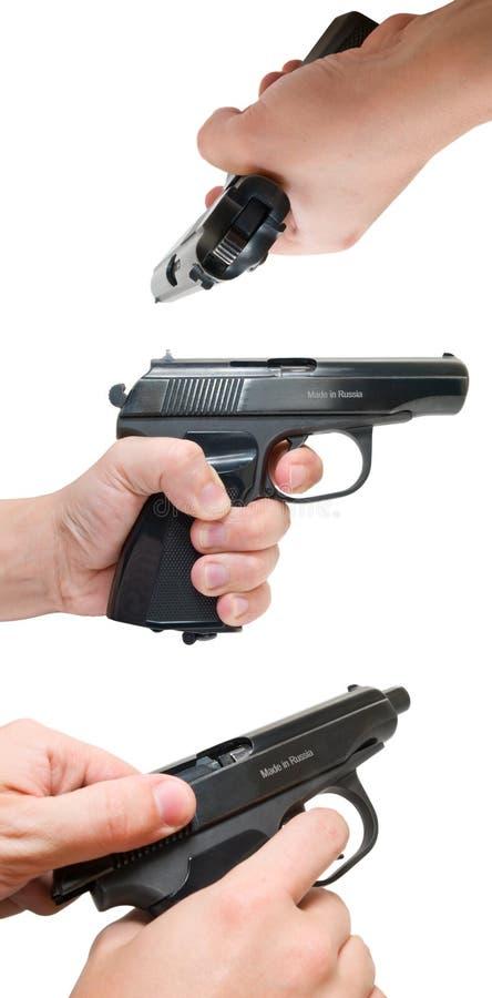 Mano e pistola XXL fotografia stock