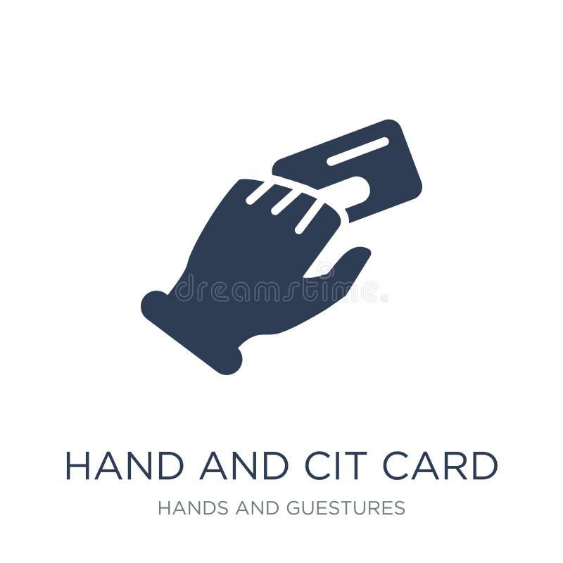 Mano ed icona della carta di credito  royalty illustrazione gratis