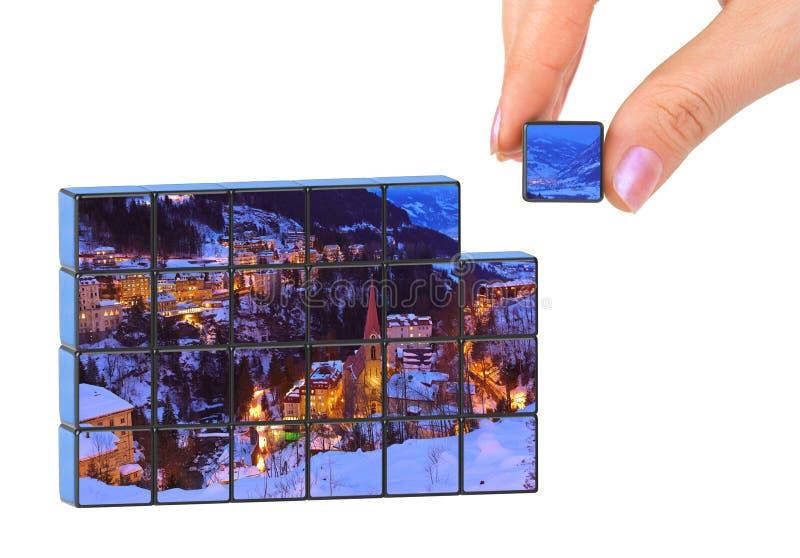 Mano ed inverno Austria il mio puzzle della foto fotografie stock