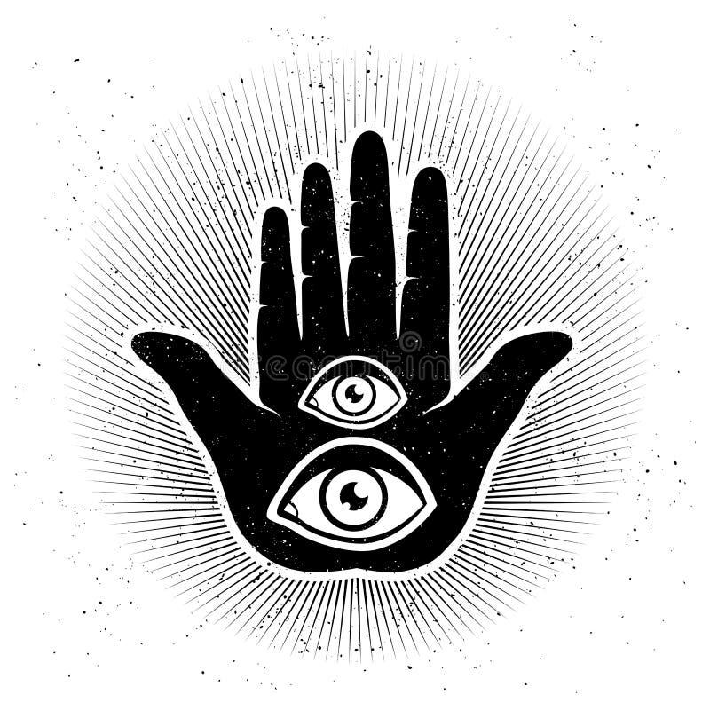 Mano ed occhi royalty illustrazione gratis