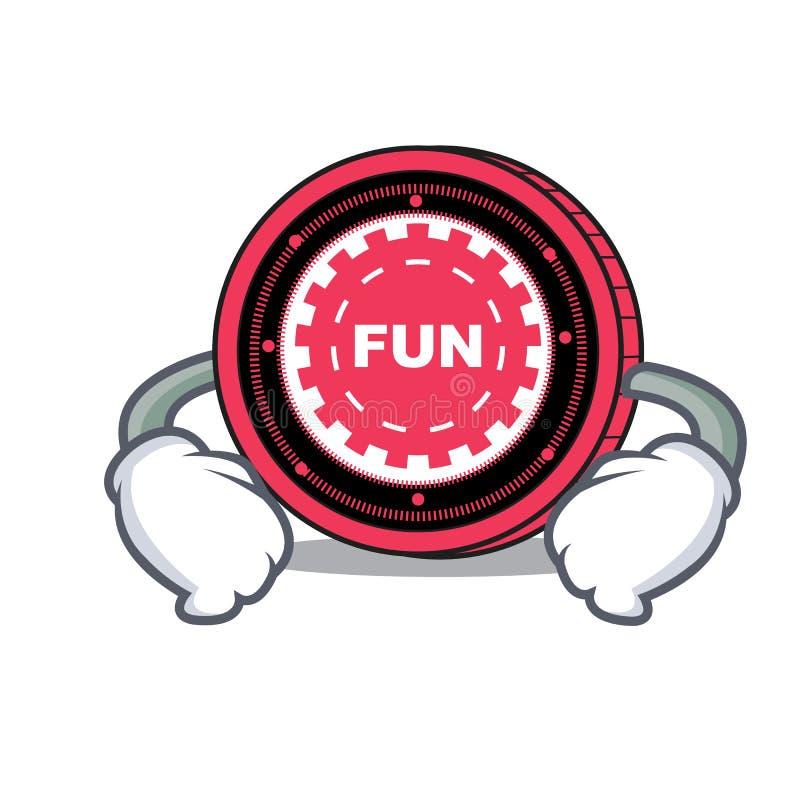 Mano en historieta del carácter de la moneda del FunFair de la cintura libre illustration