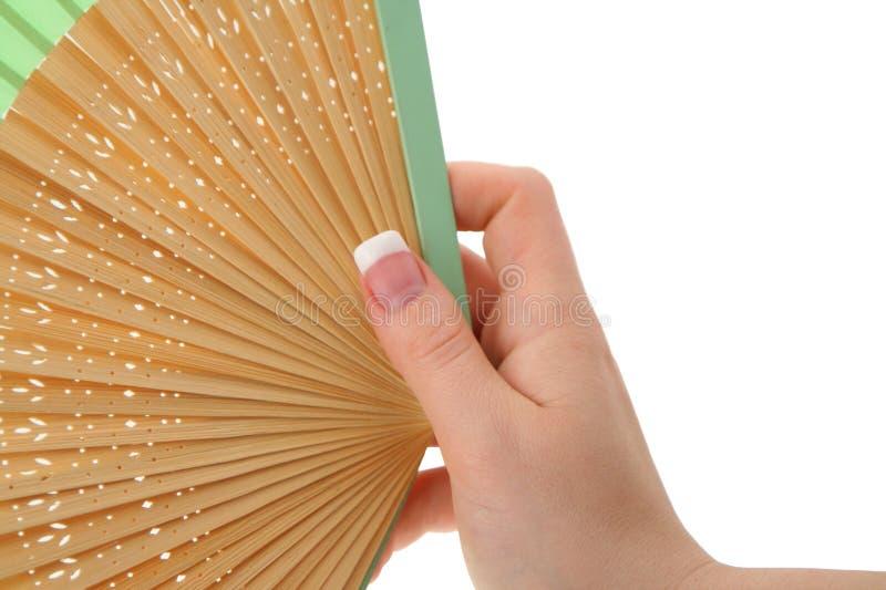 Mano femenina con el ventilador adornado #2 fotografía de archivo libre de regalías
