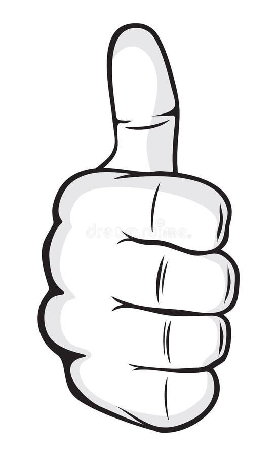 mano humana que da muy bien mano que muestra los pulgares para arriba ilustraci n del vector. Black Bedroom Furniture Sets. Home Design Ideas