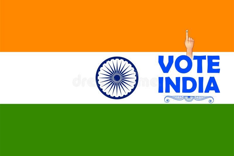 Mano india de la gente con la muestra de votación que muestra la elección general de la India libre illustration