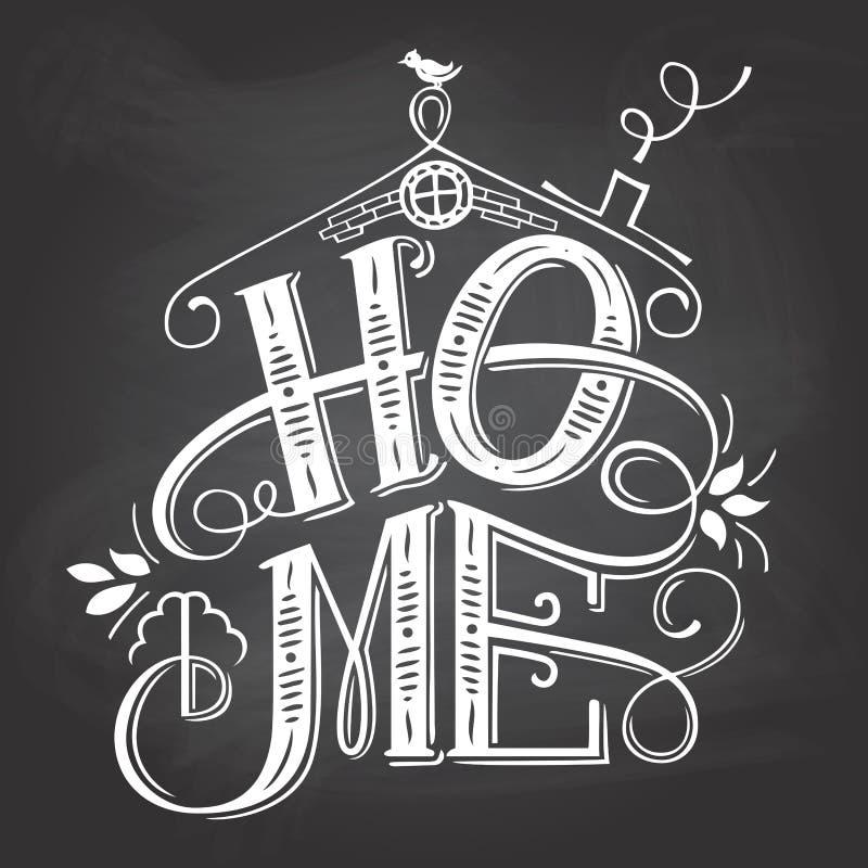 Mano-letras caseras de la muestra de la pizarra libre illustration