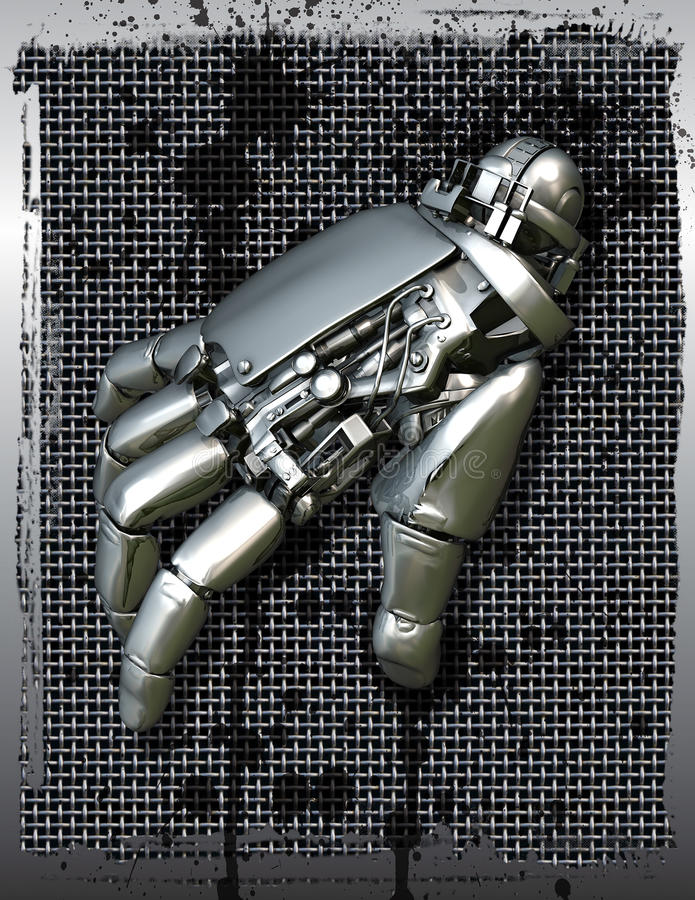 Mano mecánica robótica libre illustration