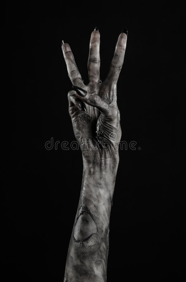 Mano Negra De La Muerte El Caminar Absolutamente Tema Del Zombi Tema De  Halloween Manos Del Zombi Fondo Negro Manos De La M Fotos - Libres de  Derechos y Gratuitas de Dreamstime