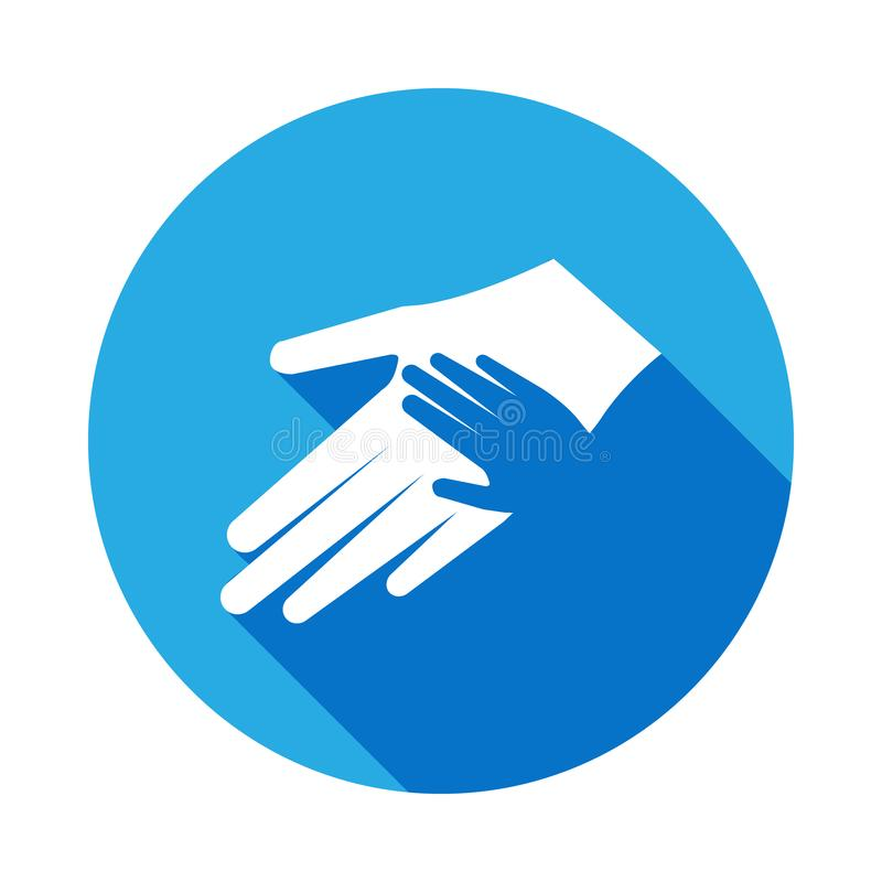 mano nella palma della vostra icona della mano Elemento dell'icona di giorno di madri Icona premio di progettazione grafica di qu illustrazione vettoriale