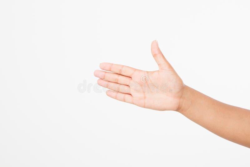 Mano nera su bianco Mano di voto Derisione su Copi lo spazio mascherina blank fotografie stock
