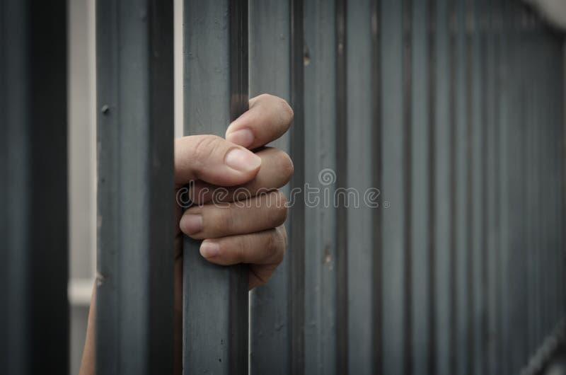Mano in prigione immagini stock libere da diritti