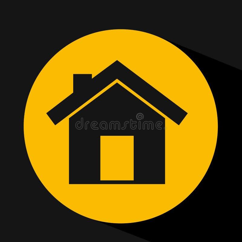 mano que lleva a cabo diseño del hogar de la casa stock de ilustración