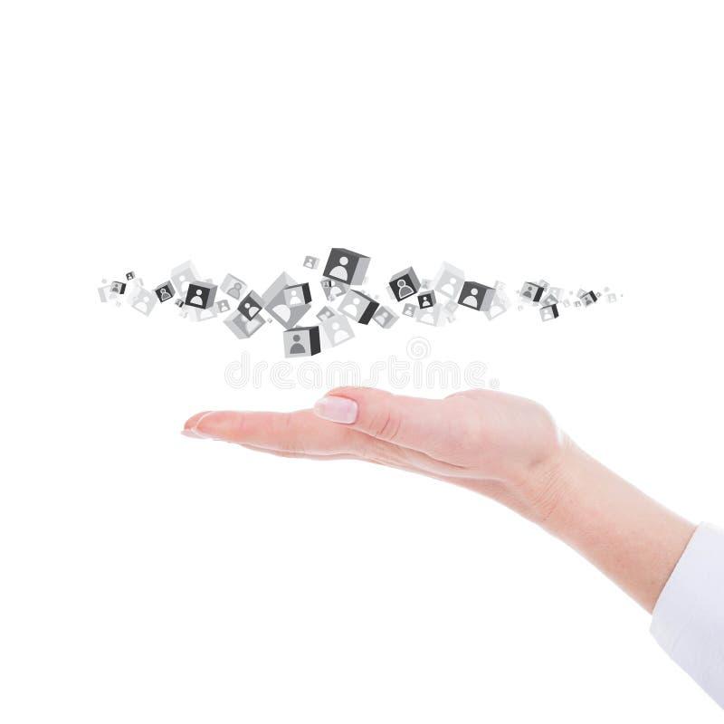 Mano que sostiene los cubos foto de archivo
