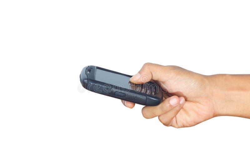 Mano que sostiene un smartphone. foto de archivo libre de regalías