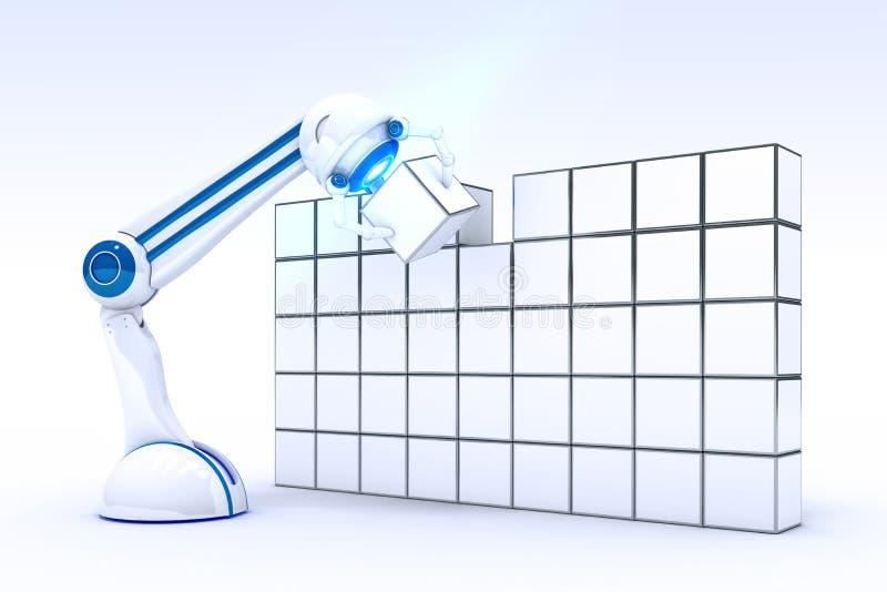 Mano robótica con dos cubos libre illustration