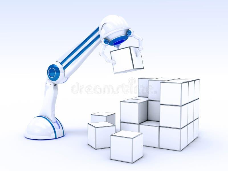 Mano robótica con los cubos libre illustration