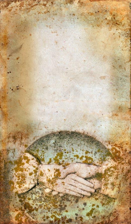 Mano-sacudida de la lápida mortuaria fotografía de archivo