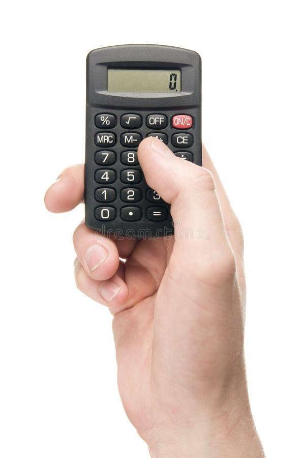 Mano, Sosteniendo La Calculadora Foto de archivo - Imagen de humano ...
