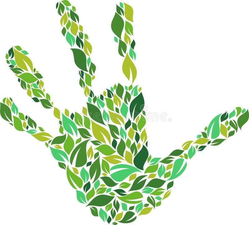 Mano verde illustrazione vettoriale