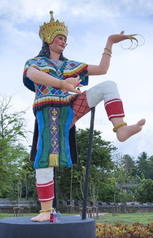 Manohra staty p? Phatthalung, Thailand arkivfoto