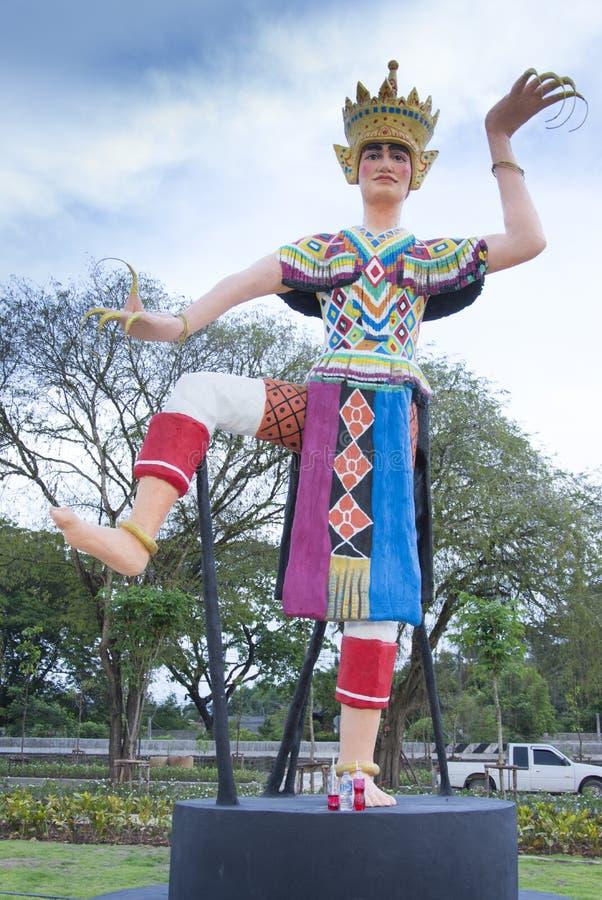 Manohra staty p? Phatthalung, Thailand royaltyfria bilder