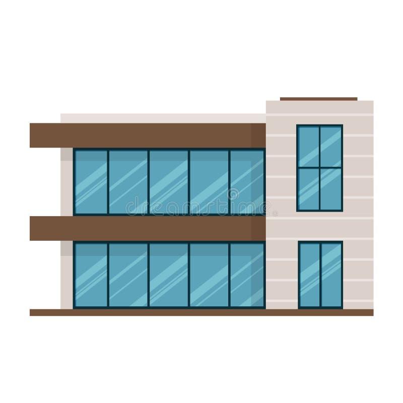 Manoir à deux étages moderne dans le style cher, maison de campagne pour le repos illustration stock