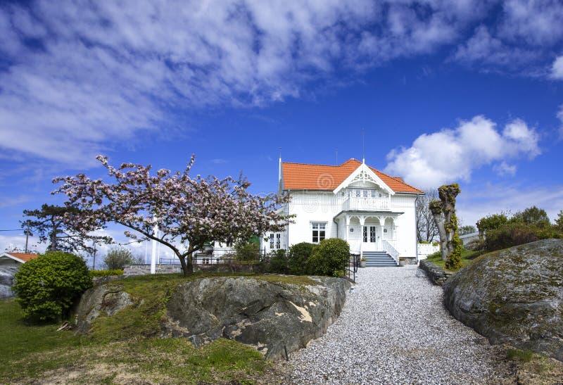 Manoir chez Styrso, côte de Bohuslan, Suède image libre de droits