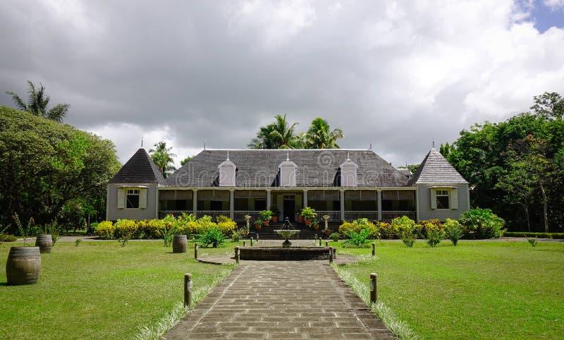 Manoir d'Eureka dans Moka, Îles Maurice photographie stock