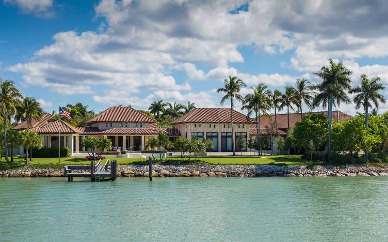 Manoir de luxe à Naples, la Floride photos stock