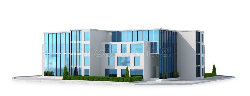 Manoir de luxe avec des vitraux rendu 3d illustration libre de droits