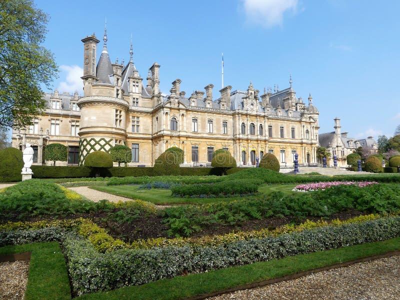 Manoir de Waddesdon une maison de campagne et jardins construits entre 1874 et 1889 pour Baron Ferdinand de Rothschild images libres de droits
