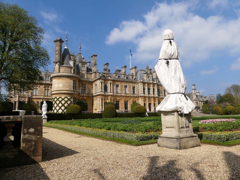 Manoir de Waddesdon une maison de campagne et jardins construits entre 1874 et 1889 pour Baron Ferdinand de Rothschild photo libre de droits