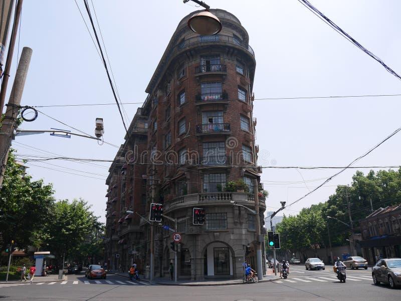 Manoir de Wukang ou bâtiment de Wukang, le point de repère à la vieille région française de concession de Changhaï image stock