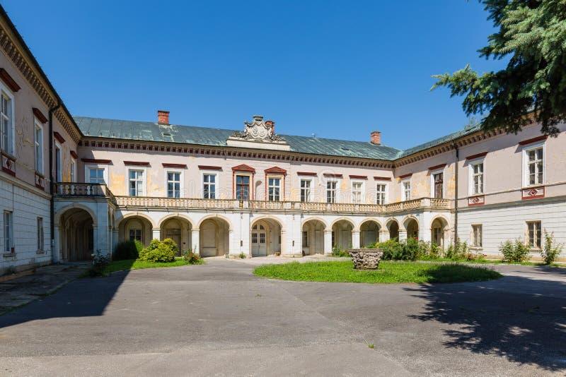 Manoir de Zichy dans Voderady, Slovaquie image libre de droits