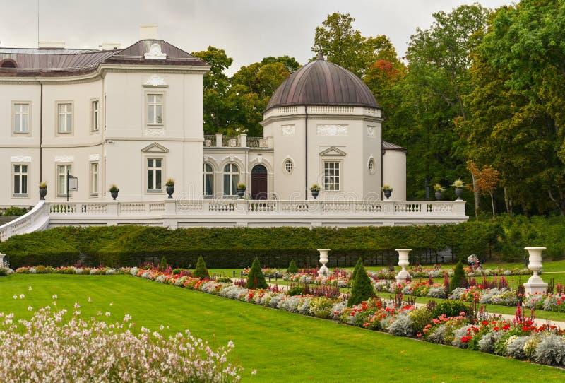 Manoir et jardin de Tiskeviciai image libre de droits
