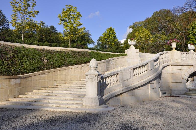 Manoir et jardins de Dupont images libres de droits