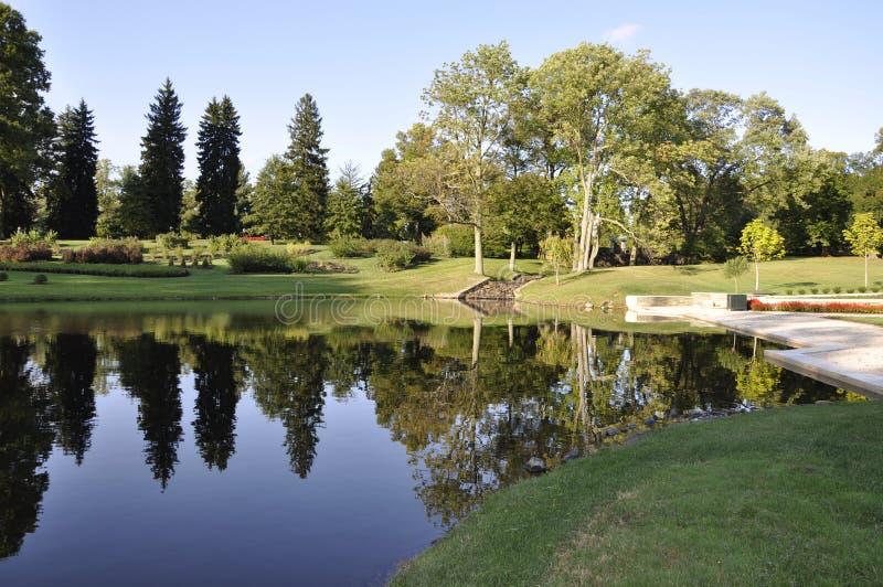 Manoir et jardins de Dupont images stock