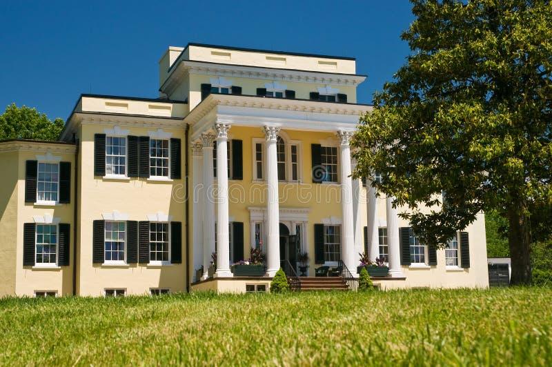 Manoir et porche de plantation photographie stock